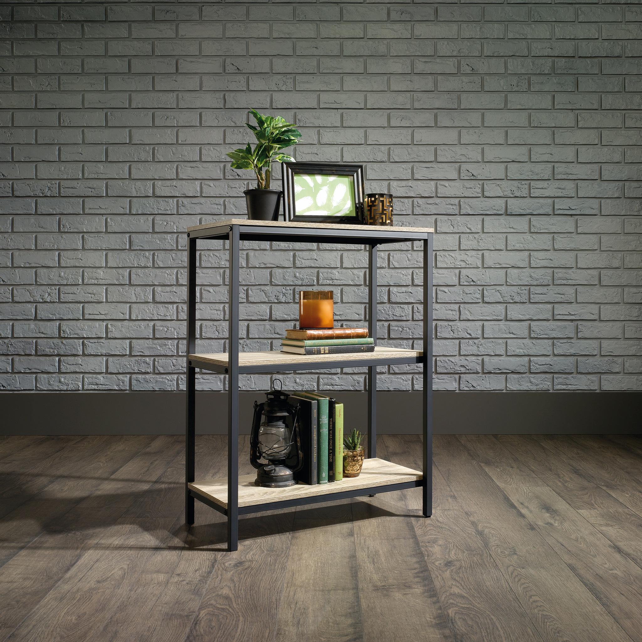 Industrial Style 2 Shelf Bookcase (Charter Oak Finish)