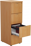 Relax Office Smart 540mm Wooden Filing Cabinet with 4 Drawers Office Storage File Organizers, Lockable, Foolscap Suspension Filing