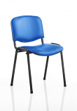 Relax ISO Stacking Chair Black Vinyl Black Frame Without Arms