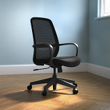Soho Task Chair – Black or White Frame with Black Mesh