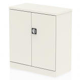 Qube Stationery 1000mm 2-Door Cupboard With Shelf