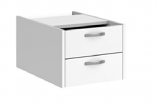 Relax Two Shallow Drawer Fixed Pedestal