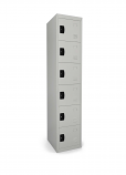 Qube Contract Locker 6 Door 1780mm High 458 Deep Goose Grey Assembled