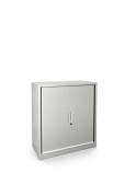 Graviti Contract 1000mm Side Tambour Cupboard Chalky White Assembled