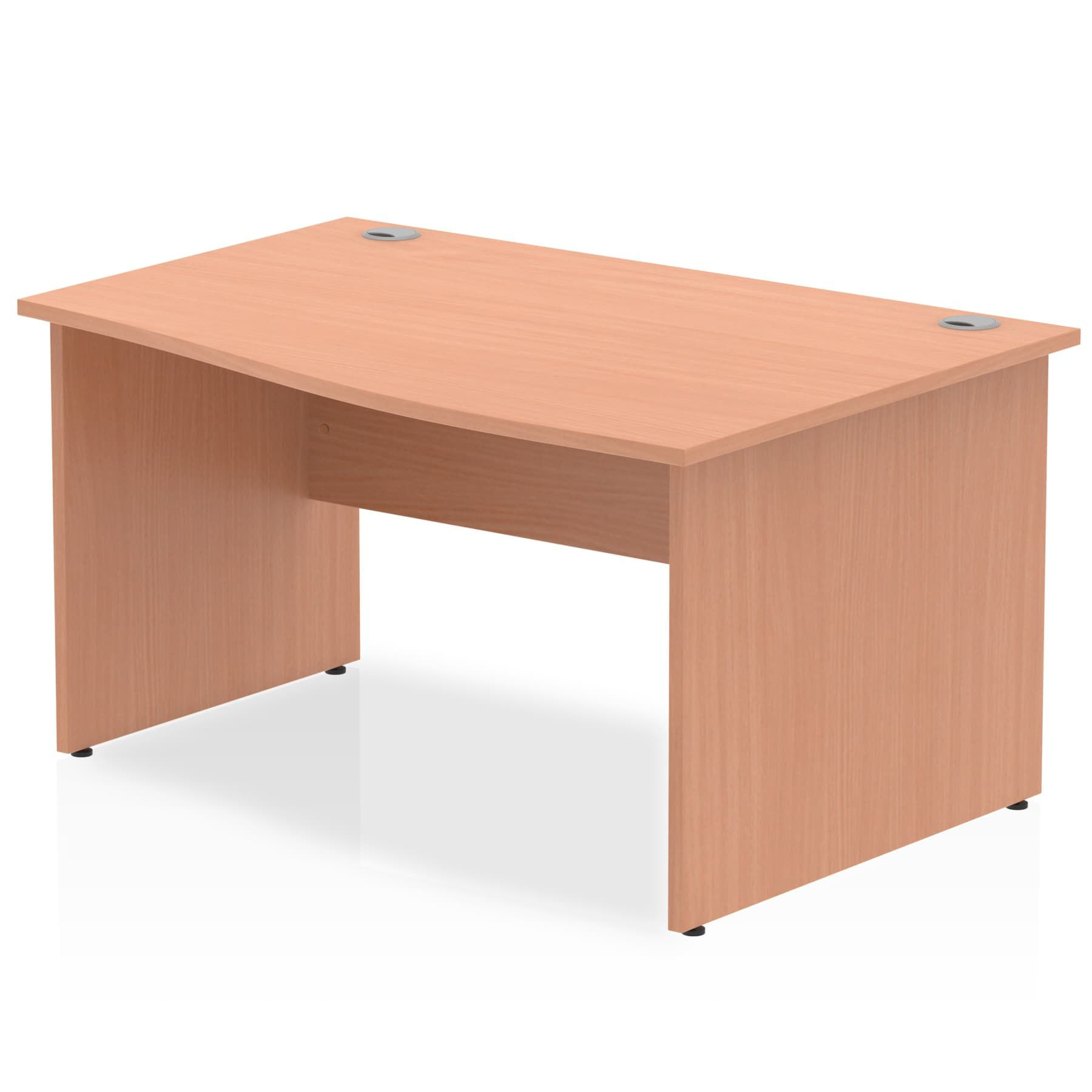 Impulse 1400 Right Hand Wave Desk With Height 730mm