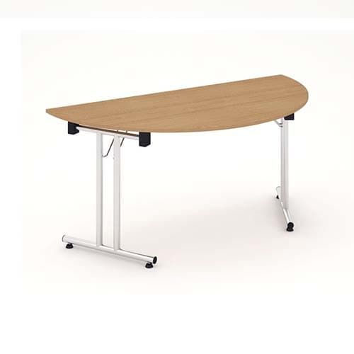 Impulse Folding Semicircle Table 1600 Beech