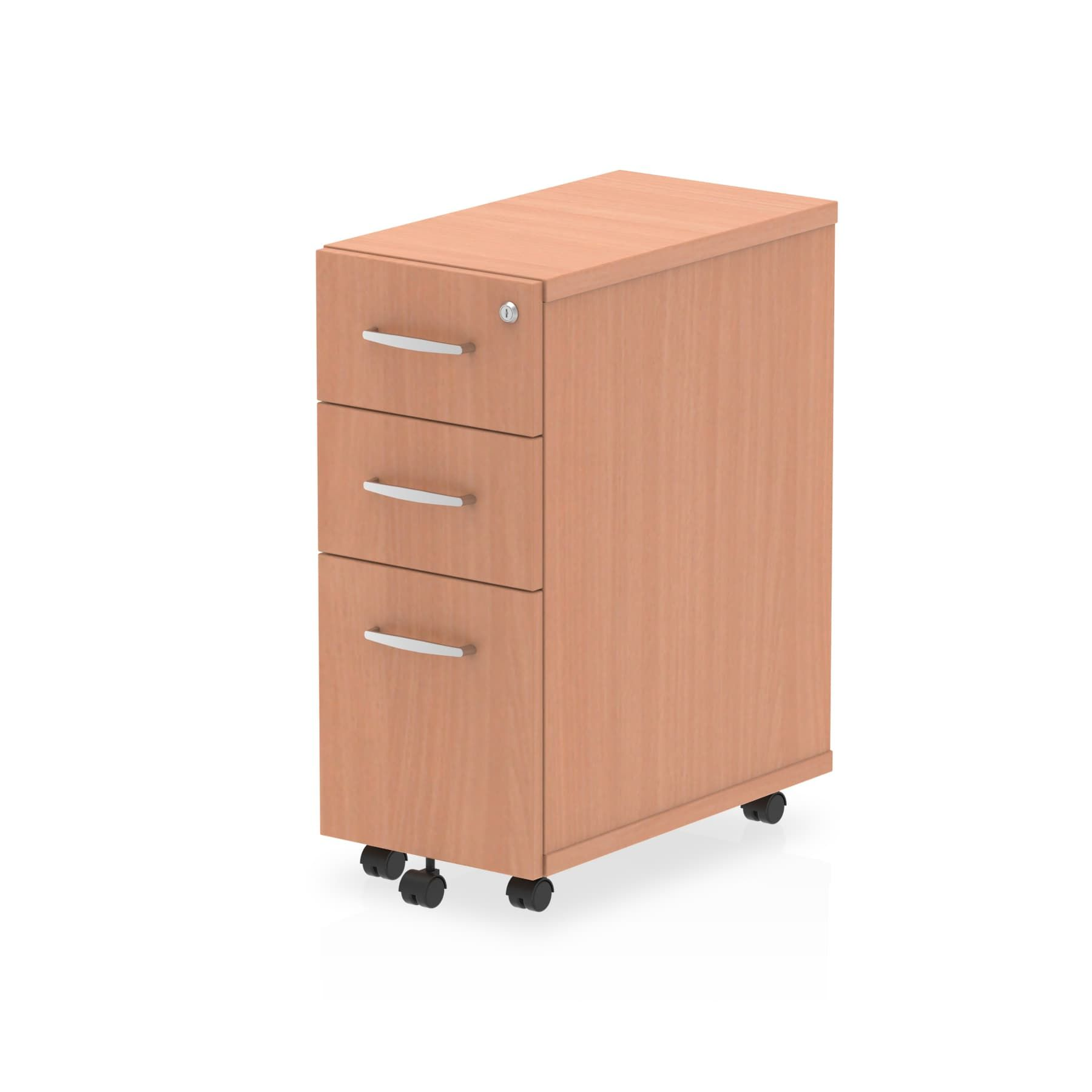 Impulse Narrow Under Desk Pedestal 3 Drawer