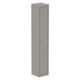 Qube Contract Locker 1 Door 1780mm High 458 Deep Goose Grey Assembled