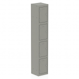 Qube Contract Locker 4 Door 1780mm High 458 Deep Goose Grey Assembled
