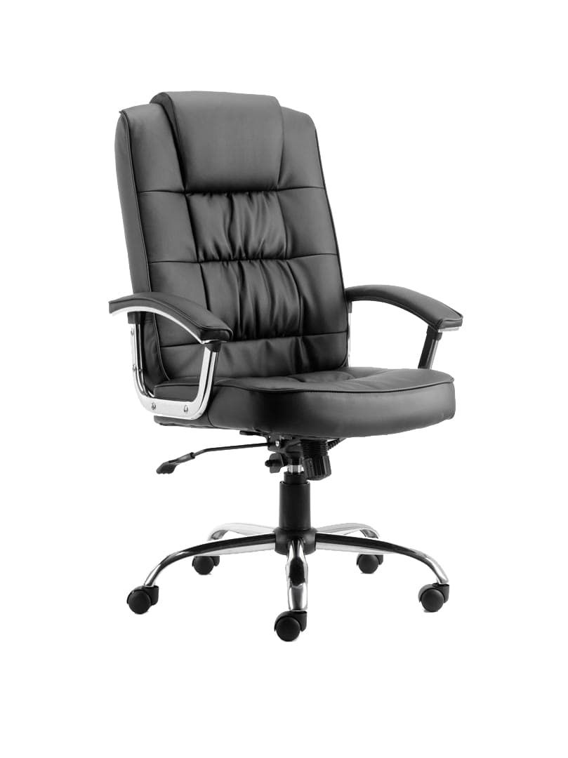 Moore Deluxe Executive Chair Black Leather With Arms