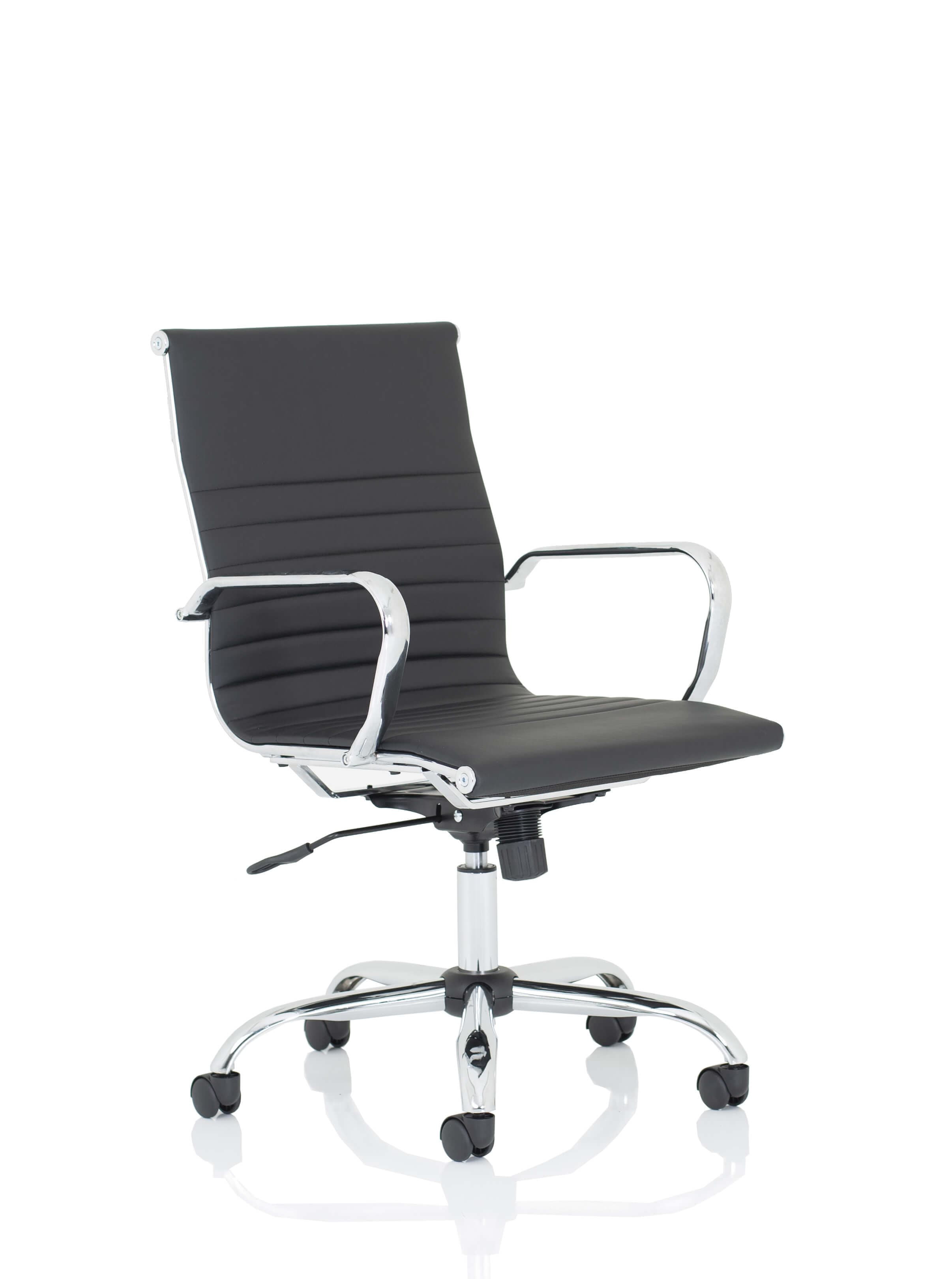 Nola Medium Black Bonded Leather Executive Chair