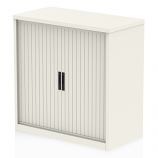 Qube 1000mm Side Tambour Cupboard No Shelves