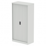 Qube 2000mm Side Tambour Cupboard No Shelves