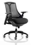 Flex Task Operator Chair Black Frame With Black Fabric Seat