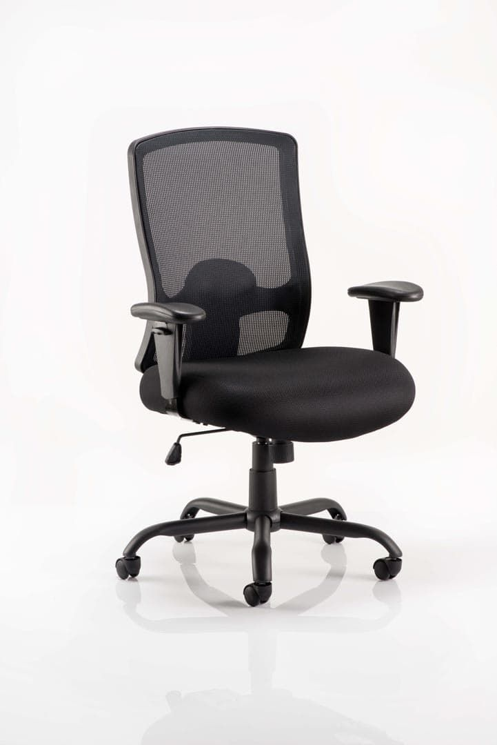 Portland HD Task Operator Chair Black Mesh With Arms