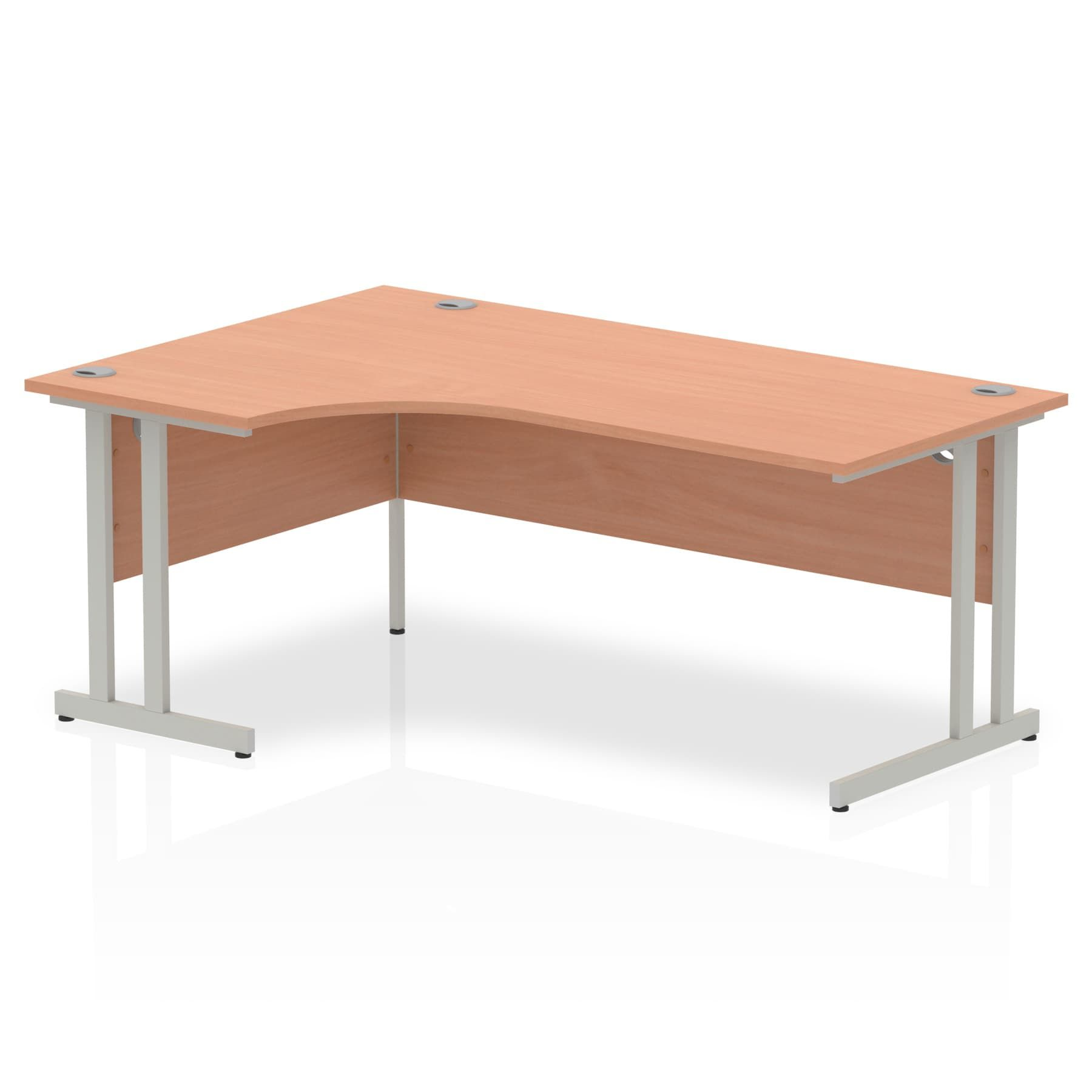Impulse 1800 Left Hand Crescent Desk with Cantilever Leg