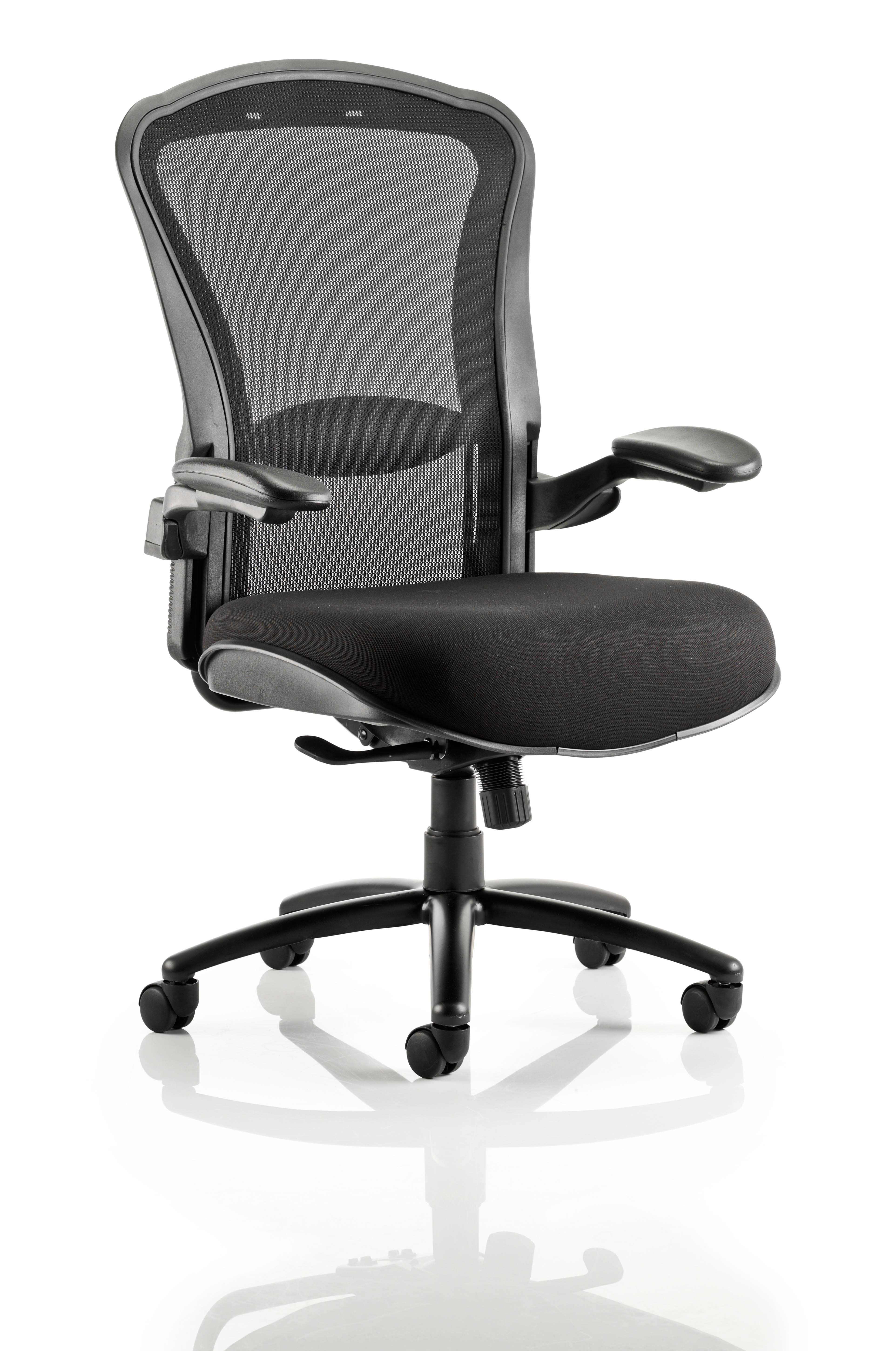 Houston Heavy Duty Task Operator Chair Mesh Back Seat With Arms