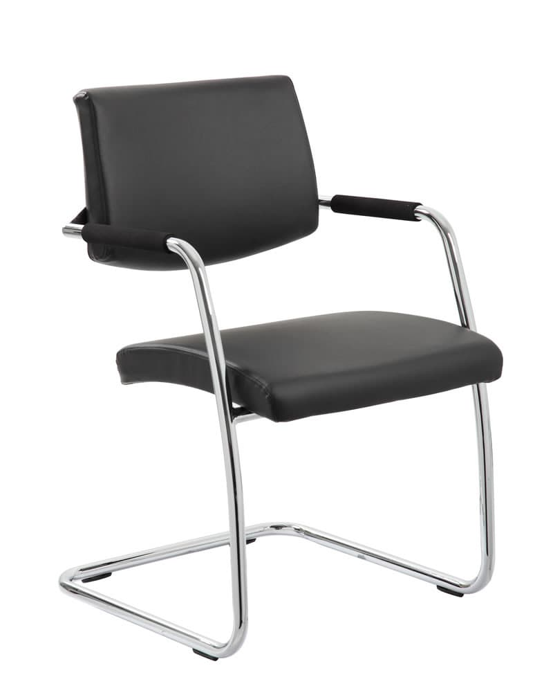 Havanna Visitor Chair Leather With Arms
