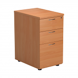Essentials - 3 Drawer Desk High Pedestal