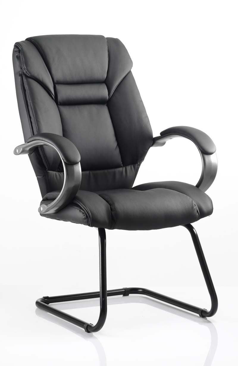 Galloway Visitor Cantilever Chair Leather With Arms
