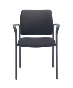 Florence Fabric Arm Chair - Black Frame