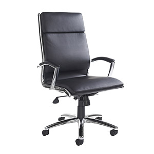 Florence high back executive chair - black faux leather