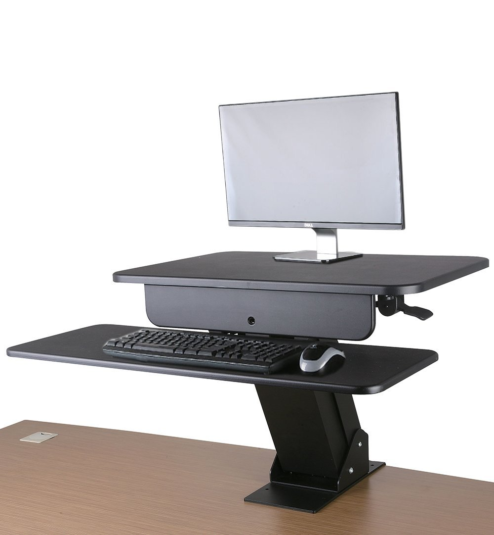 Gas-spring Sit-Stand Workstation with desk clamp