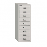 Bisley 9 Drawer Home 39 Series Steel Multidrawer - Goose Grey