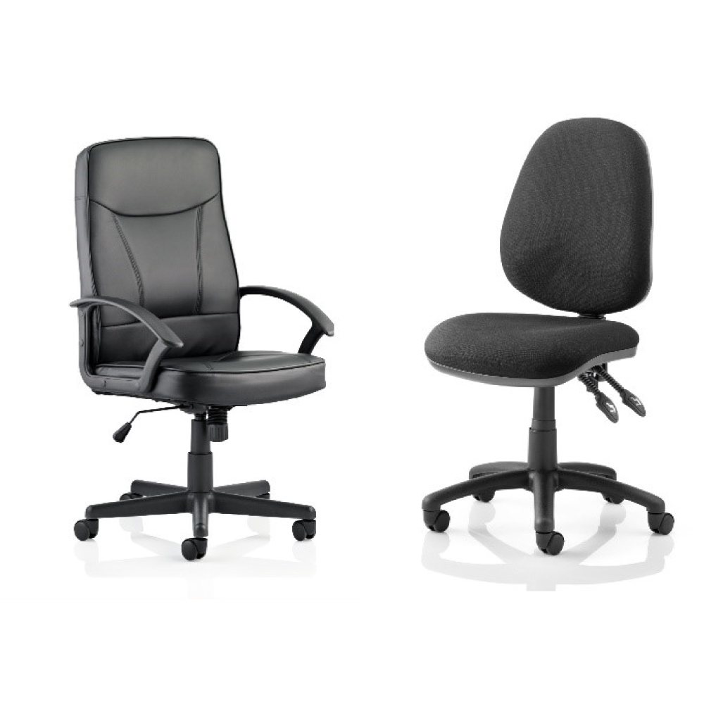 Soho Work From Home Deal -comprising of Blitz Executive Black Chair, exceptional value Eclipse Plus Chair