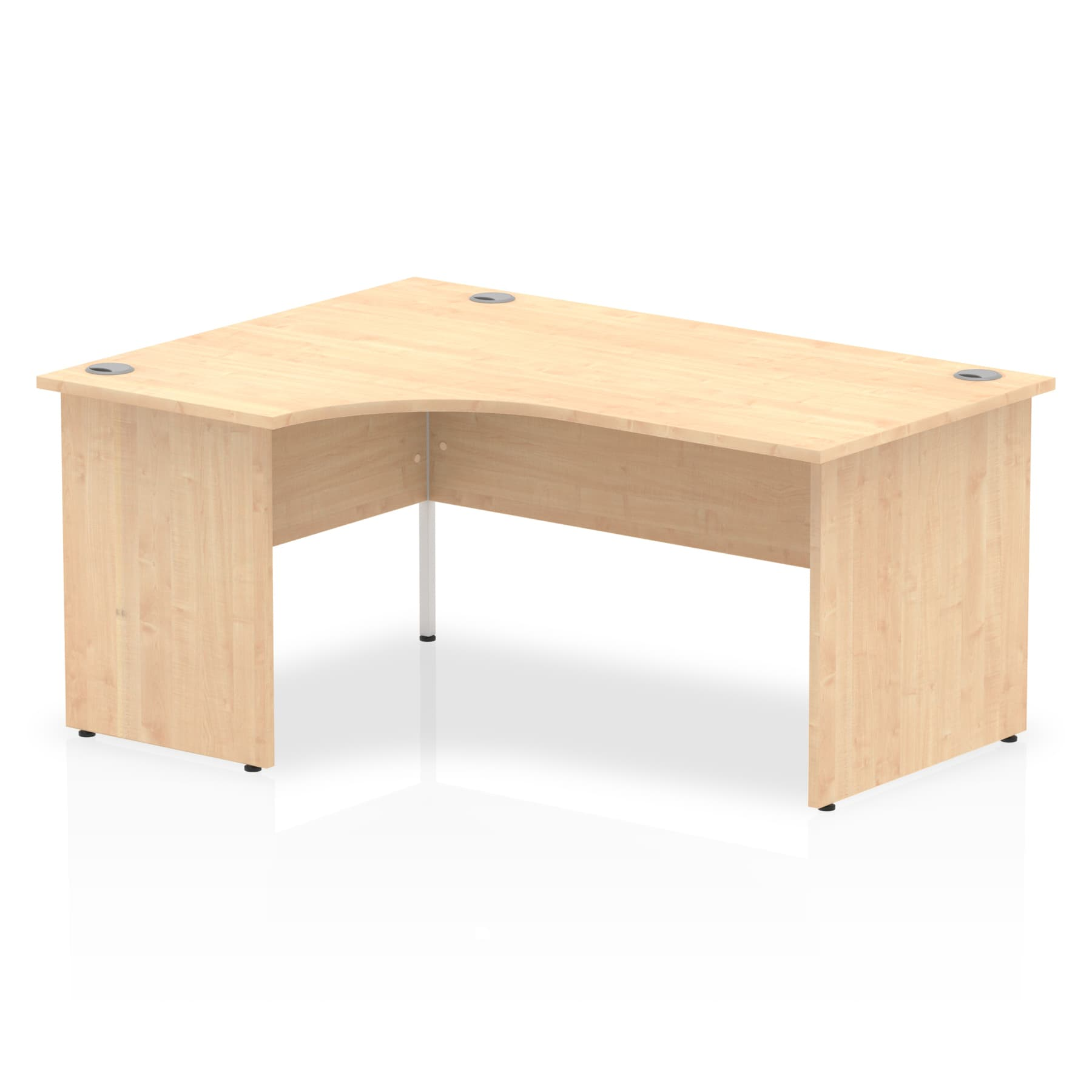 Impulse 1600 Left Hand Crescent Desk with Panel Leg