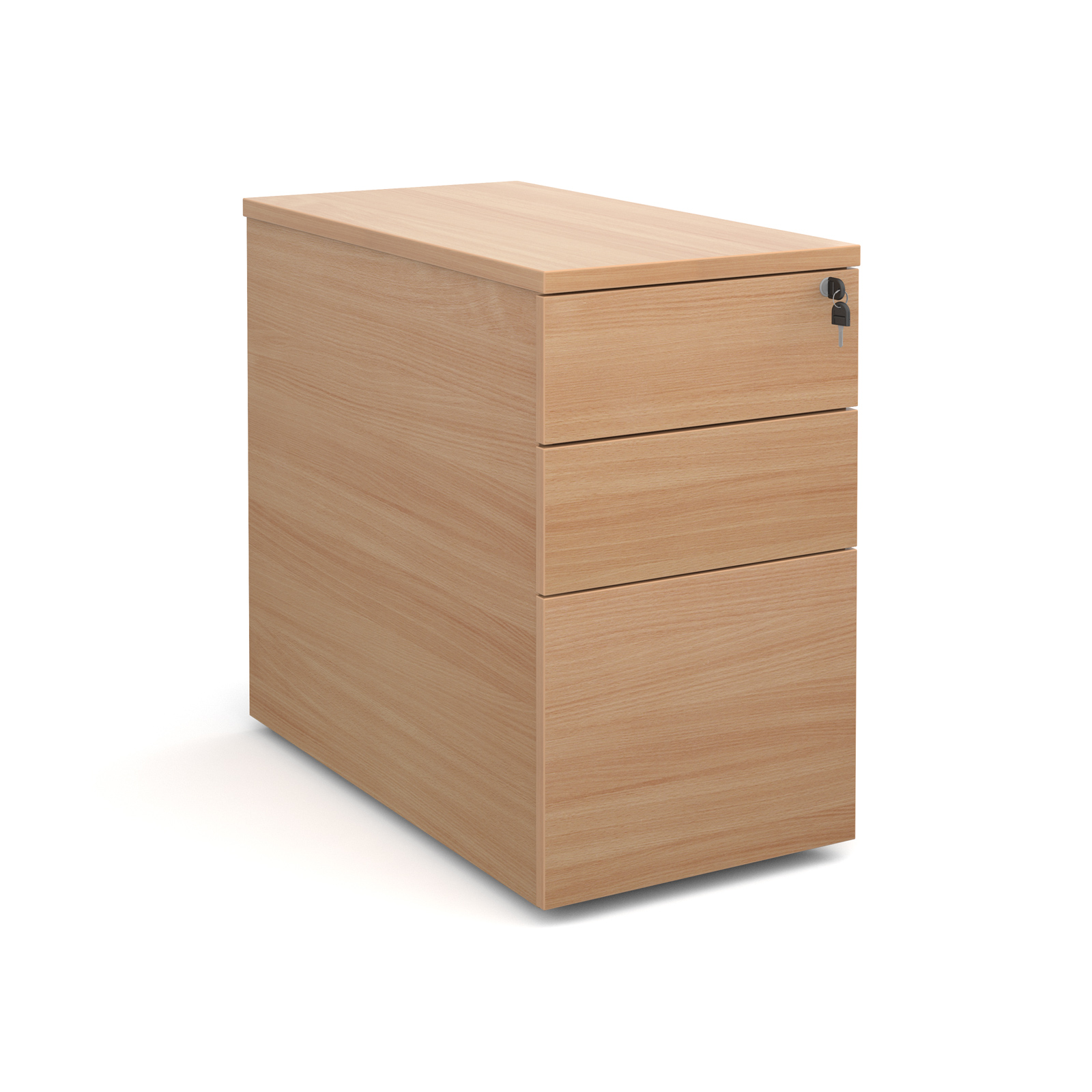 3 DRAWER DESK HIGH DELUXE PEDESTAL 800MM DEEP
