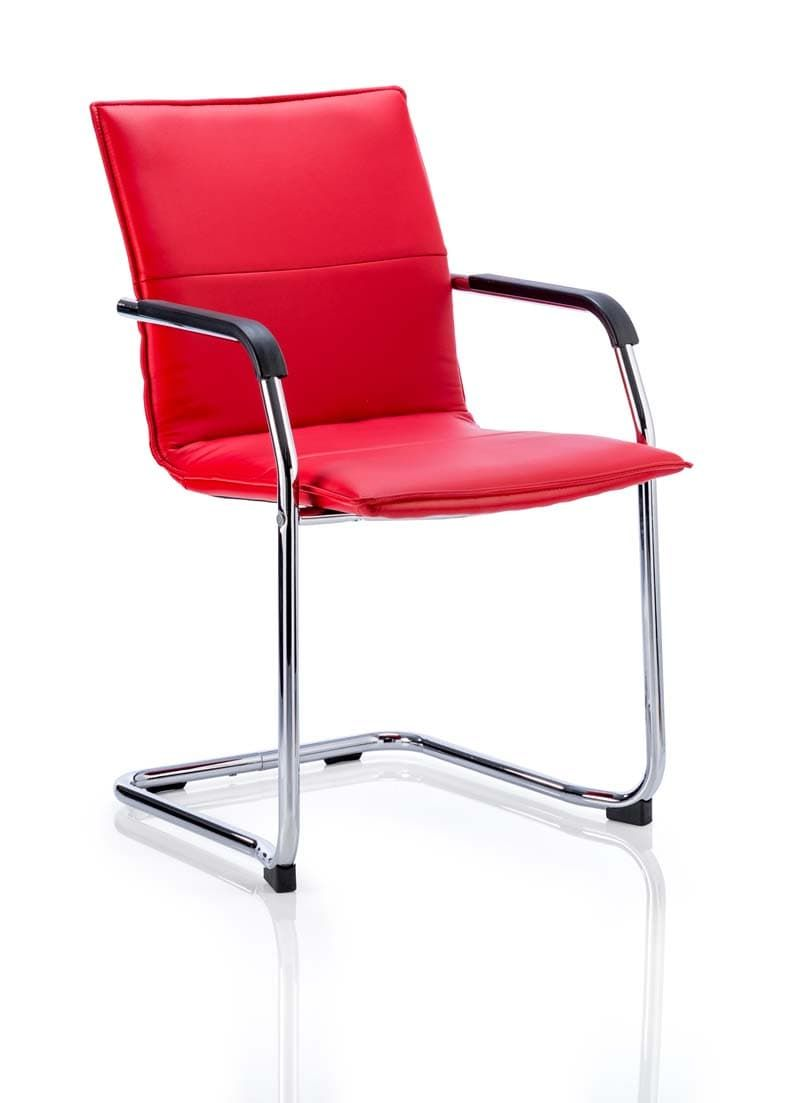 Echo Visitor Cantilever Chair Bonded Leather With Arms