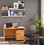 Soho Working Bundle including Panel Desk, Mobile Pedestal, Mesh Chair - Work From Home