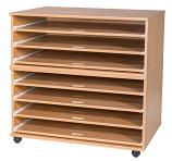 7 Sliding Shelves A1 Paper Storage