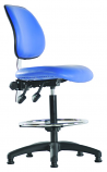 Deluxe Vinyl Draughtsman Chair