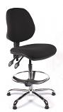 Juno Chrome Medium Back Draughtsman Chair