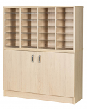 Premium Pigeonhole Unit With 24 Spaces and Cupboard