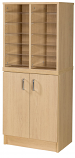 Premium Pigeonhole Unit With 12 Spaces and Cupboard