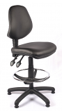 Juno Vinyl Medium Back Draughtsman Chair