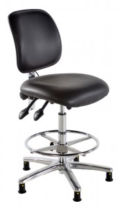 ESD Conductive Draughtsman Chair in Vinyl
