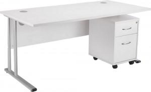 Smart Desk with Mobile Pedestal