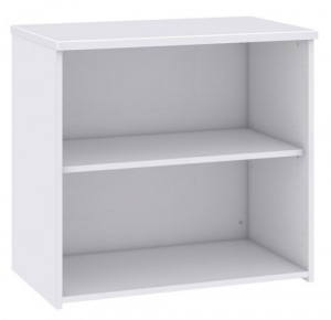Duo White Bookcase
