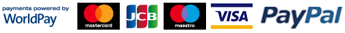 Payments Powered By WorldPay: MasterCard, JCB, Maestro, Visa, PayPal